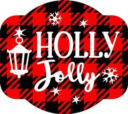Holly Jolly Plaid print art