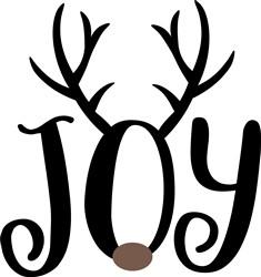 Christmas Reindeer Joy print art