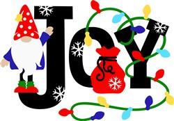 Christmas Joy Gnome print art