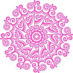 Pink Swirls Mandala print art