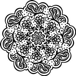 Mandala Flower Style print art