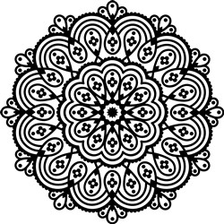Flower Bloom Mandala print art