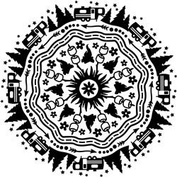 Camping Mandala print art