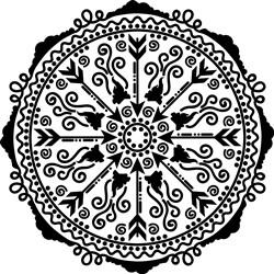 Vintage Mandala print art