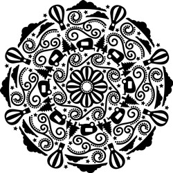 Hot Air Balloon Mandala print art