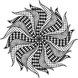 Fabric Scraps Mandala print art