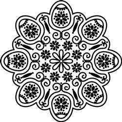 Easter Egg Mandala print art