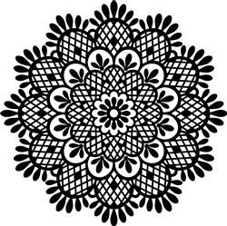Floral Mandala Outline print art