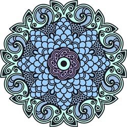 Decorative Mandala print art