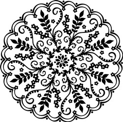 Decorative Floral Mandala print art