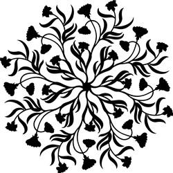 Flowers & Vines Mandala print art