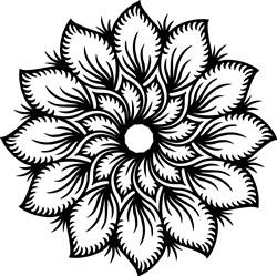 Flower Mandala Outline print art