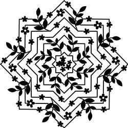 Starburst & Flower Mandala print art