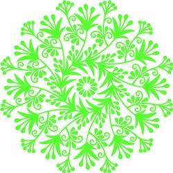 Lime Green Floral Mandala print art