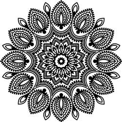 Leafy Mandala print art