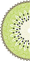 Swirly Kiwi Half print art