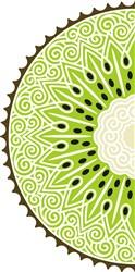 Kiwi Half print art