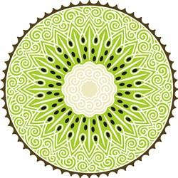 Swirly Kiwi Outline print art