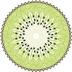 Decorative Kiwi Slice print art