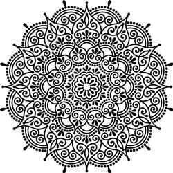 Detailed Scalloped Mandala print art