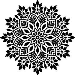 Stunning Floral Mandala print art