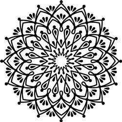 Mandala Outline print art