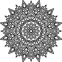 Teardrops Mandala Outline print art