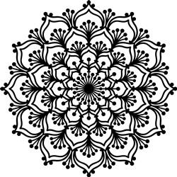 Tropical Mandala Outline print art