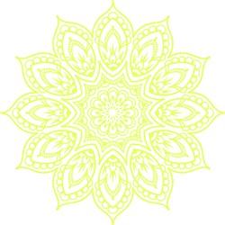 Yellow Mandala Outline print art