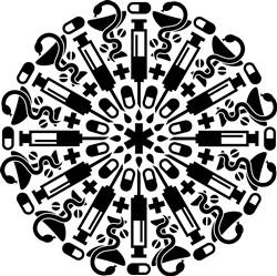 Pharmacist Mandala print art