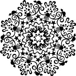 Sea Life Mandala print art
