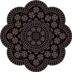 Silhouetted Floral Mandala print art