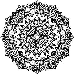Owl & Nature Mandala print art