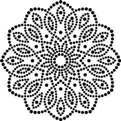 Scalloped Polka Dot Mandala print art