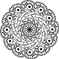 COVID Toilet Paper Mandala print art