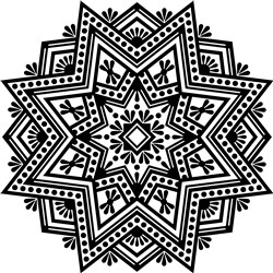 Southwestern Mandala print art