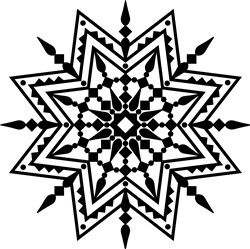 Southwestern Mandala Outline print art