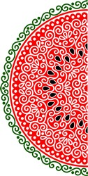Swirly Watermelon Half print art