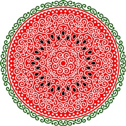 Swirly Watermelon print art