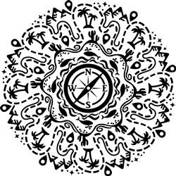 Cruise Themed Mandala print art