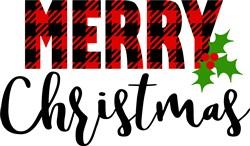 Plaid  Merry Christmas print art