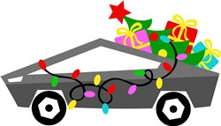Christmas Car With Gifts print art
