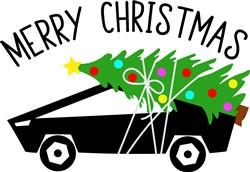 Merry Christmas Sports Car print art