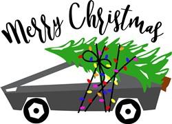 Christmas Tree Sports Car print art