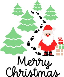 Cartoon Merry Christmas print art
