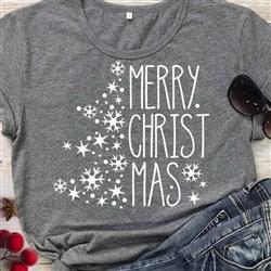 Merry Christmas Snowflake print art