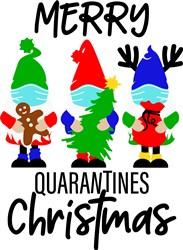 Merry Quarantine Christmas Gnomes print art