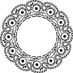 Decorative Wreath print art