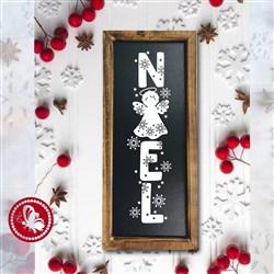Noel Christmas Angel print art