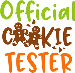Official Christmas Cookie Tester print art
